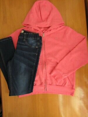 Next Girls Pink Headphone Logo Hoodie & Jeggings Outfit - Age 12 Years