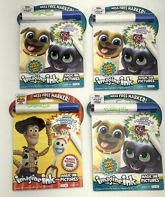 Disney Jr Imagine Ink Puppy Dog Pals Ink Free Mess Free Coloring /& Game Book New