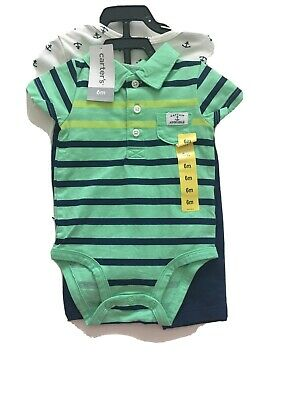 CARTERS Boys 6 Months 3pc set outfit nautical Captain Adorable Summer NWT
