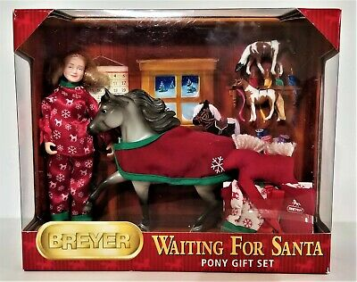 Breyer Waiting for Santa 2009 Christmas Horse Doll Accessories Gift Set 301114