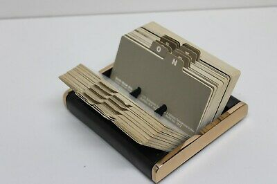 "Smith Metal Arts ""Radius Two"" Office Desk Organizer / Rolodex William Sklaroff"