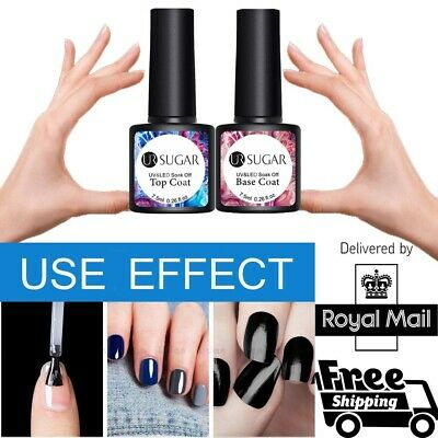 UR SUGAR Top & Base Coat Nail Gel Polish Professional UV LED Gel 7.5ML-UK STOCK