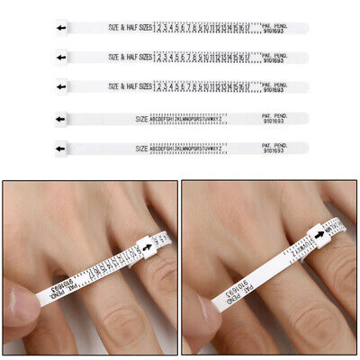 5 Ring Sizer UK Official British/American Finger Measure Gauge A-Z/1-17 Jewelry