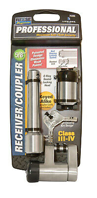 """Reese Towpower Professional 5/8"""" Chrome Receiver And Trailer Coupler Lock"""