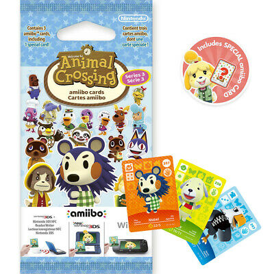 Animal Crossing Series 3 amiibo Cards Pack For New Leaf & New Horizons