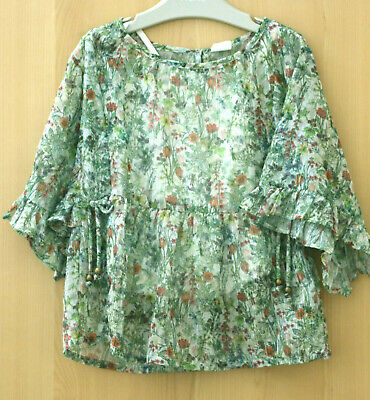 Next Girls Floral Floaty Top With Cami Age 5 Years  BNWT Tag £17
