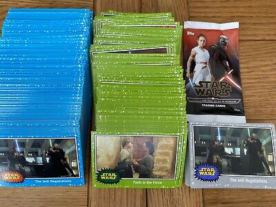 Star Wars Journey to The Rise of Skywalker Base Cards Blue Green & Grey