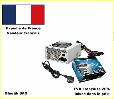 Alimentation GOLD pour PC ATX 550 W Max Silencieuse 20dB Max - vent. 12cm NEUF
