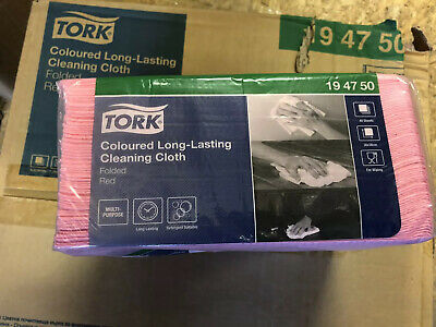 Tork Coloured Long Lasting Cleaning Cloth- Red, 320 Per Box