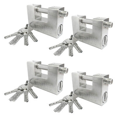 4x High Security Padlock Suitcase Lock Heavy Duty for Container Garage Warehouse