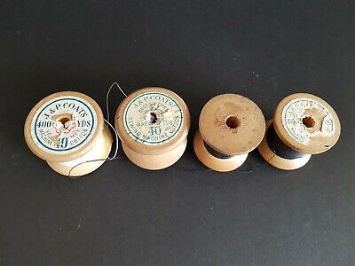 Vintage J P Coats Sewing Thread on Collectable Wooden Spools
