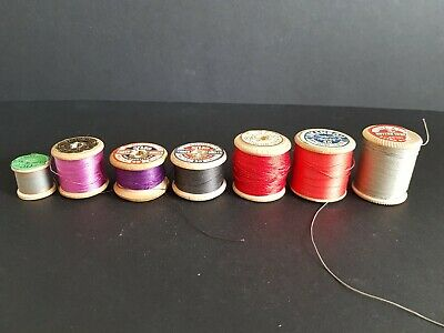 Vintage Various Sewing Thread on Collectable Wooden Reels