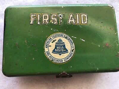 American Telephone & Telegraph Bell System Vintage First Aid Tin