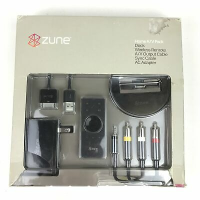 Microsoft Zune Home A/V Pack Charger Cradle Audio Kit For Streaming to Stereo