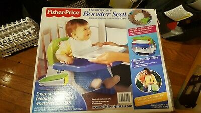 Fisher-Price Healthy Care Booster Seat, Green/Blue, Frustration Free Packaging