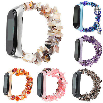 Natural Gemstone Bracelet For Xiaomi Mi Band 4 Miband 3 Strap Jewelry Watch Band