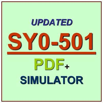 CompTIA Security+ PLUS Certification Test SY0-501 Updated EXAM QA PDF+Simulator