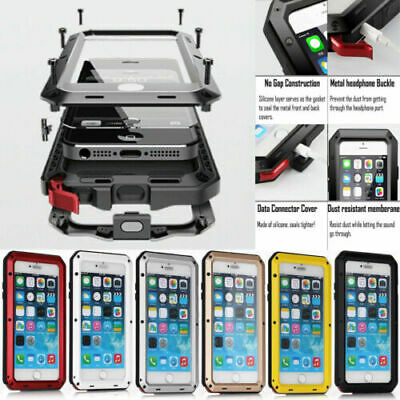 Heavy Duty Aluminum Metal Waterproof Case Cover For iPhone 11 Pro XS Max X 8 7