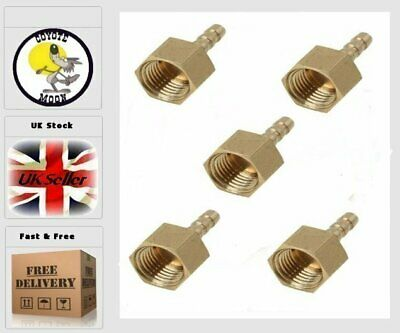 "1/4"" BSP Brass Taper Female Thread ×4mm Barbed Hose Tail, Air,Water UK SELLER"