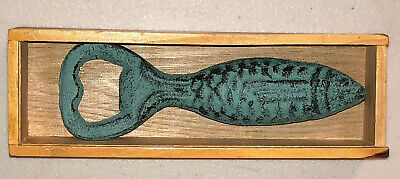 Beer Bottle Opener Cast Iron Bass Fish  Unique Gift Idea! Heavy Weight Unbranded