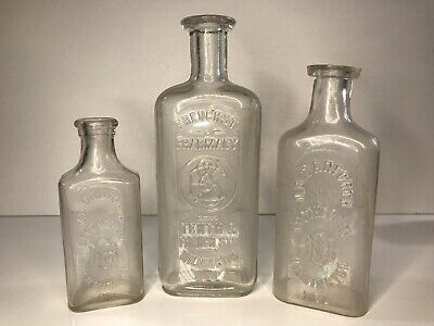 Vintage Glass Wilmington Delaware Apothecary Drug Store/Pharmacy Bottles