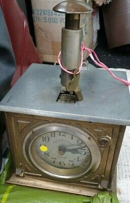 Old Vintage  Mechanical Industrial Clocking In Time Recorder