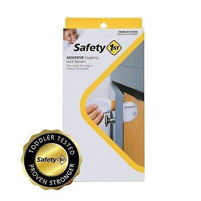 Safety 1st Adhesive Magnetic Child Safety Lock System Set of 8 Locks and 2 Keys