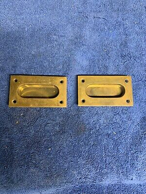14142 TWO BEAUTIFUL EASTLAKE FINGER LIFTS FOR SASH LATCH WINDOWS