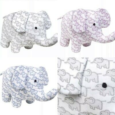 ex UK Chainstore Little Elephants Printed Girl Boy Baby Soft Teddy Toy RRP £12