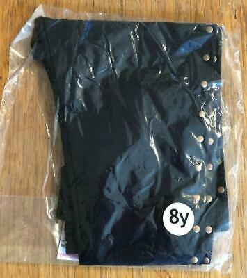 New Girls Gold Studded Black Leggings Ex Highstreet Store - Bagged - 4-11 Years