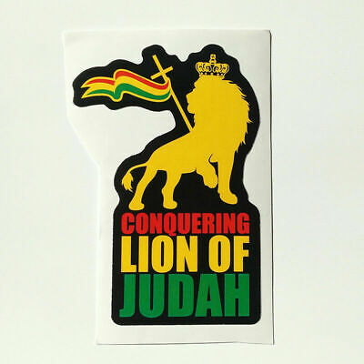 CONQUERING LION of JUDAH Bike Headset TOP CAP in BLACK RASTA RASTAFARI Painted