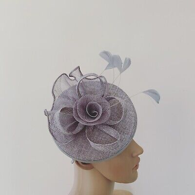 Silver Grey Fascinator Wedding Ladies Race Day Hair Accessories