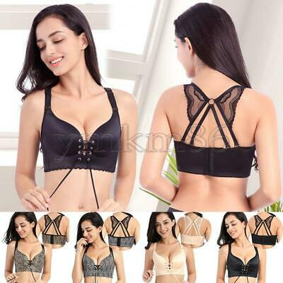Women Lady Push Up Wire Free Bra Leopard Smooth Strappy Back Butterfly Crop Tops