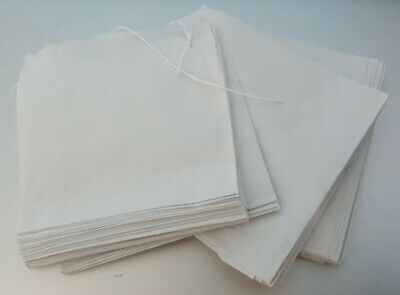 ×800 White Sulphite Strung Sweets Bags - 125 x 125