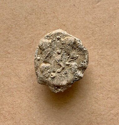 Roman imperial conical lead seal of Tetrarchy period (AD 285-305). A nice piece!