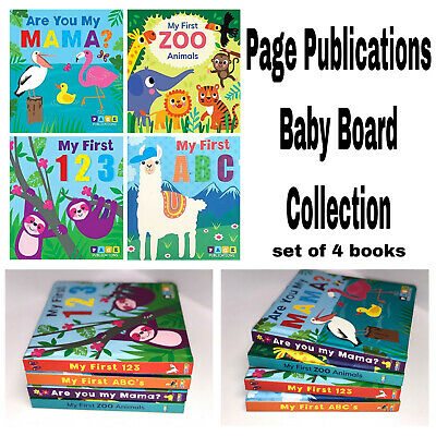Early Learning Baby Board Book Collection Padded Books for Toddler Kids Day Care