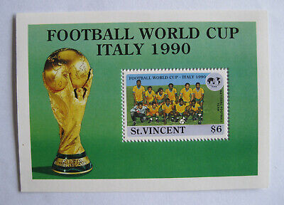 St. VINCENT - FOOTBALL WORLD CUP ITALY 1990 - NATIONAL FOOTBALL TEAM - $6
