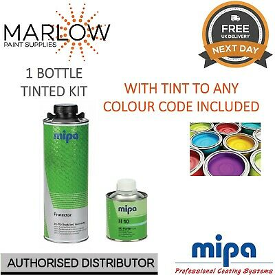Mipa Protector Bed Liner Tough Coating 1 Bottle Kit *Tinted To Any Colour Code*