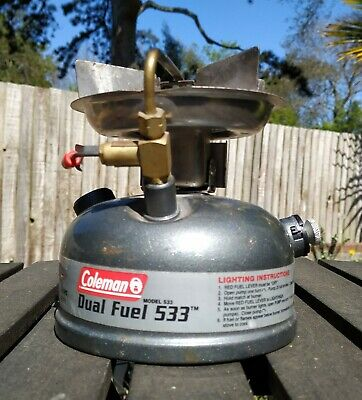 NEW IN BOX. Coleman Unleaded Model 533-700E Sportster Stove w//Carry Case Grey