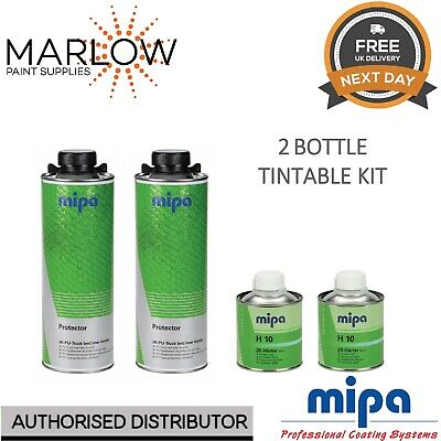 2 X Mipa Protector Bed Liner Tough Coating 1 Bottle Kit With Hardener - Tintable