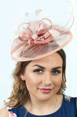 Blush Pink Sinamay Fascinator Fascinators Wedding Race Day Hatinators RRP £65