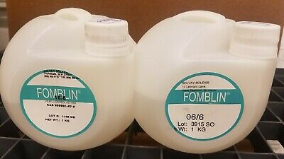 Fomblin Turbomolecular Pump Oil, 750g of 16/6 and 830g of 06/6 Vacuum Pump Oil
