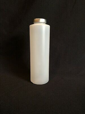 New 16 oz HDPE Natural Cylinder Round Plastic Bottle 38-400 Lot Of 30