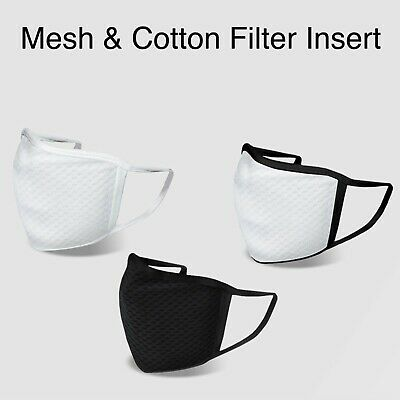 Mesh & Cotton Comfortable Washable Face Mask with Filter Insert Pocket