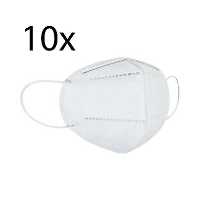 One Size KN95 Face Mask, Protective Mask Against Dust, Bacteria, Pack of 10