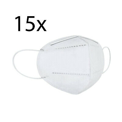 One Size KN95 Face Mask, Protective Mask Against Dust, Bacteria, Pack of 15