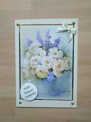 White Lily Deepest Sympathy Condolence Greeting Card by WHISTLEFISH New blank