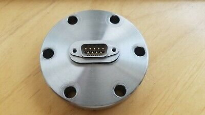 2.75 Inch Conflat 9 Pin, Type-D Power Feedthrough, Stainless Steel Flange