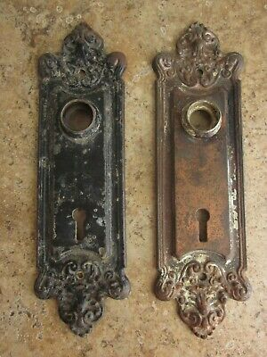 """Vintage Pair of Sargent & Co Door Plates 7-1/2"""" Backplates"""