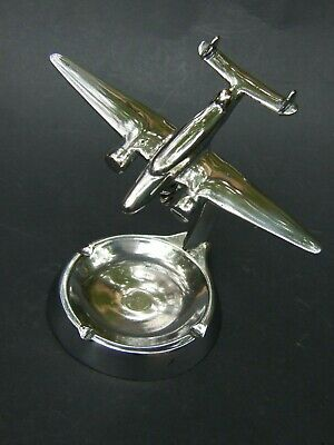 ANTIQUE  ART DECO CHROME WW2 AUSTRALIAN  MODEL PLANE W ASTRAY 30's